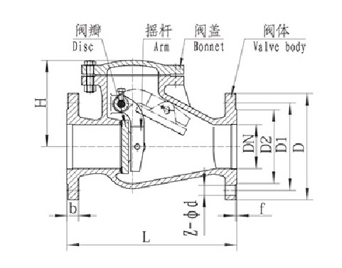 H44T/W/X-10/10Q/16/16Q Swing Check Valve