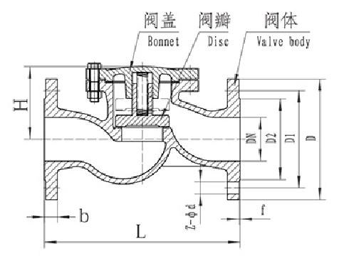 H41T/W/H-16/16Q Lifting Check Valve