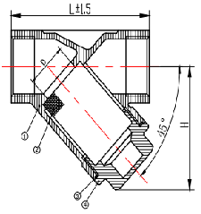 Y11F-800WOG(P/R)ANSI Screw Type  Strainer