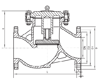 H41H-16/25/40C Cast steel Lifting Check Valve