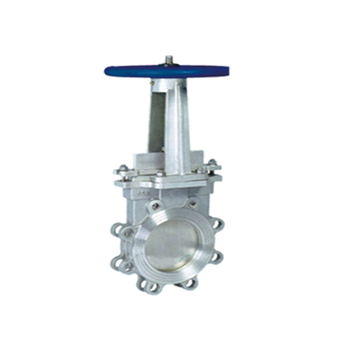 stainless steel knife-gate valve with hand handle