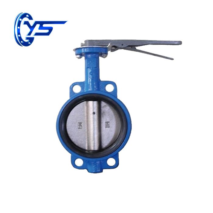 hot sale rubber lined ductile iron Wafer butterfly valve