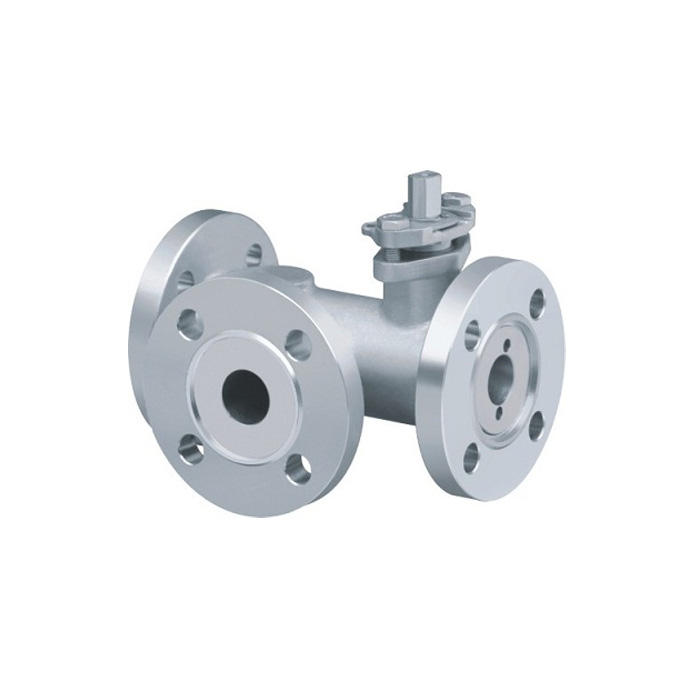 Q44 / 45F-16P flange type three-way ball valve