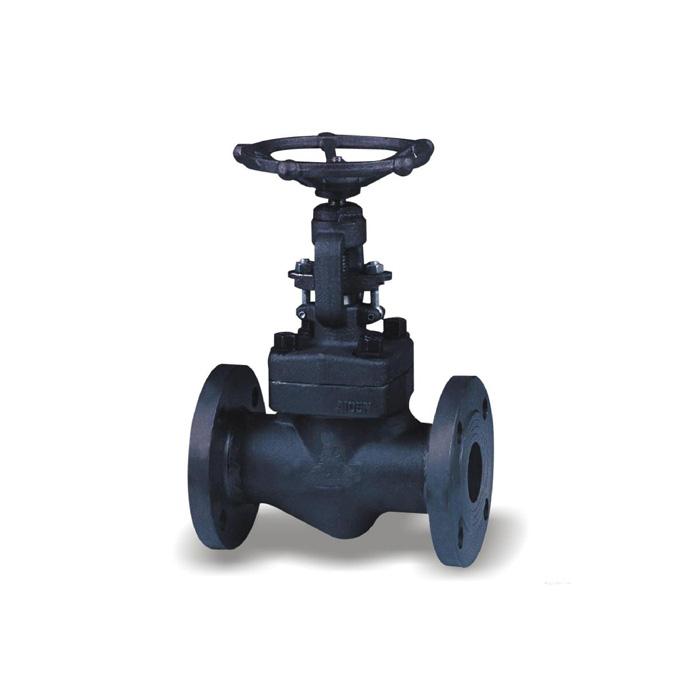 J41H / Y-25 / 40/64/100/160 forged steel flange globe valve