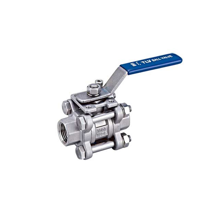 3PC Ball Valve dn-50-600mm stainless steel ballvalve 1000WOG
