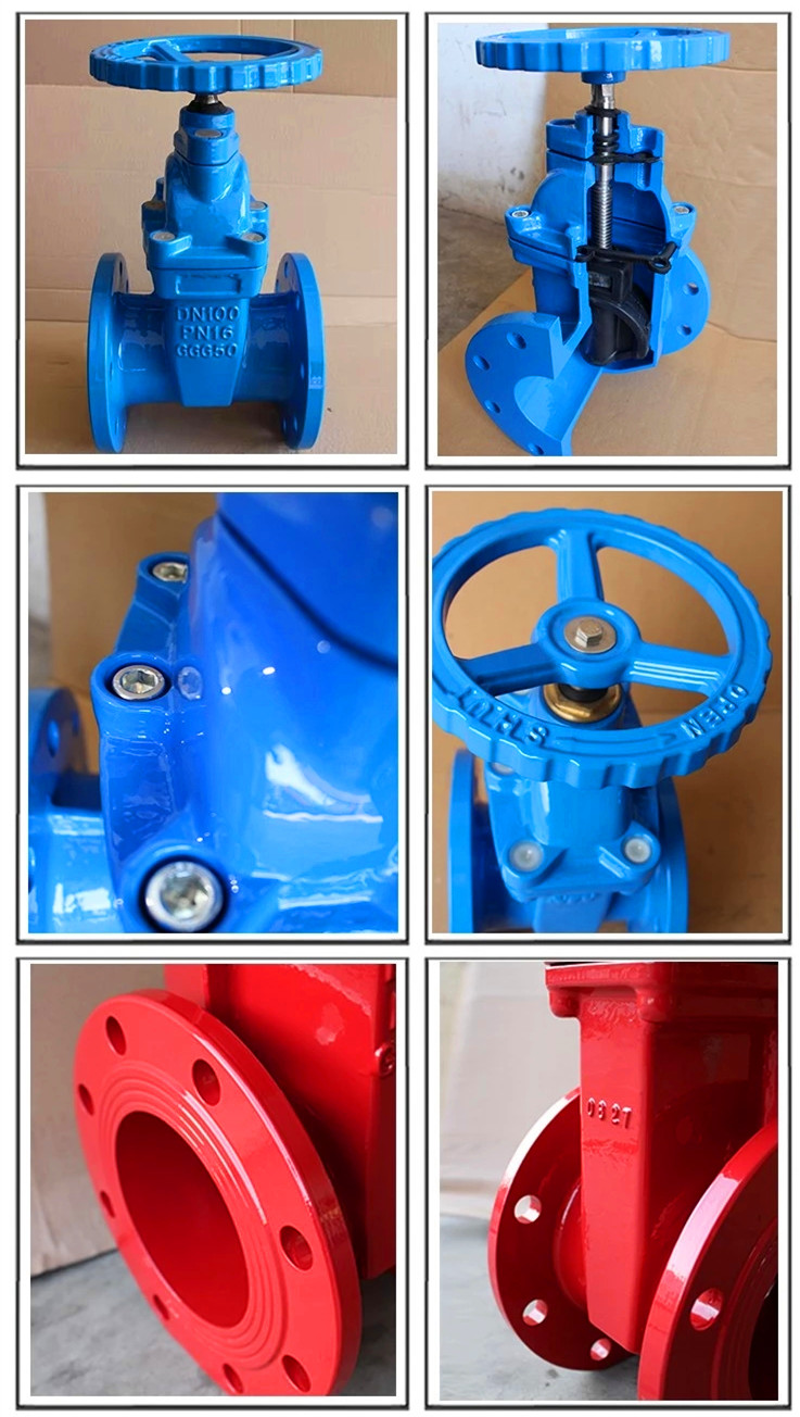 DN 50-300mm DIN F5 Non-rising Stem Gate Valve